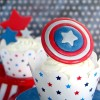 Captain America Cupcakes to Serve {and Protect}!