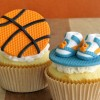 Nothin' But Net Basketball Cupcake Tutorial