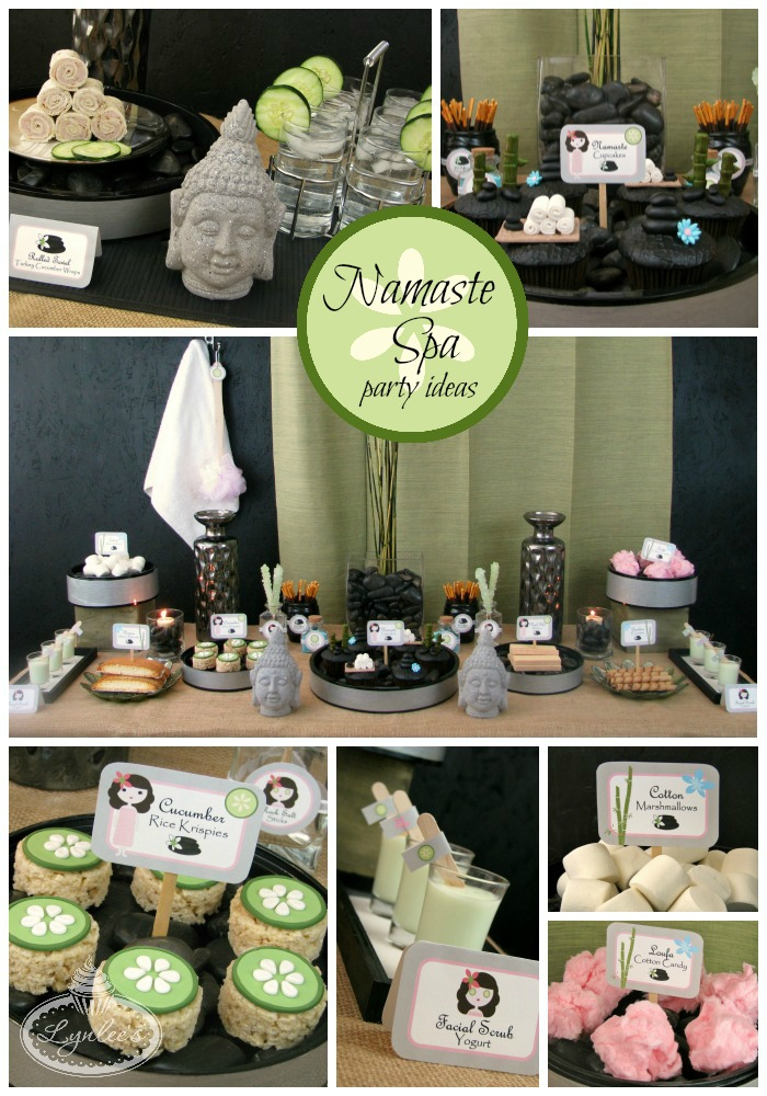 Namaste Spa party ideas ~ Lynlee's