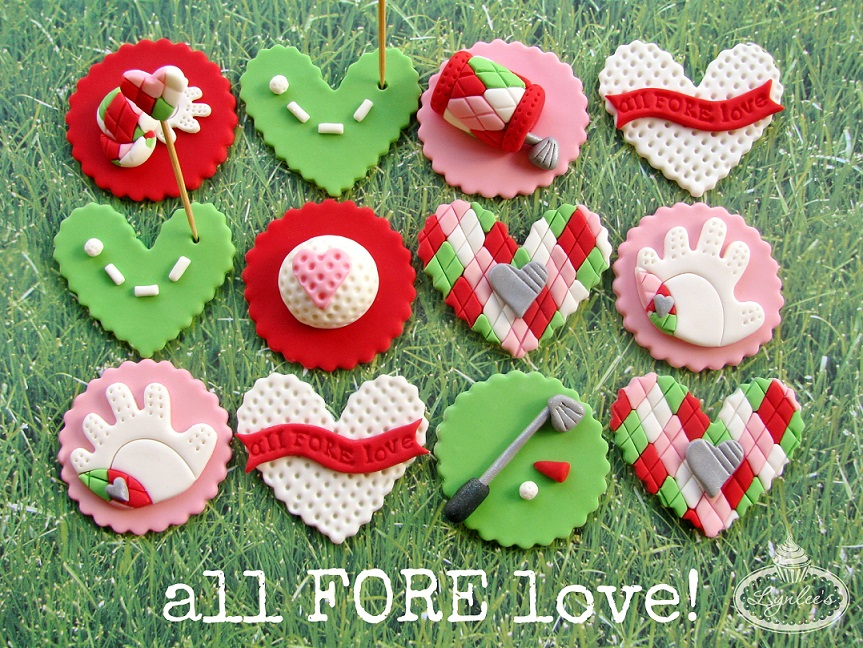 All for Love Valentine's Fondant Cupcake Toppers ~ Lynlee's