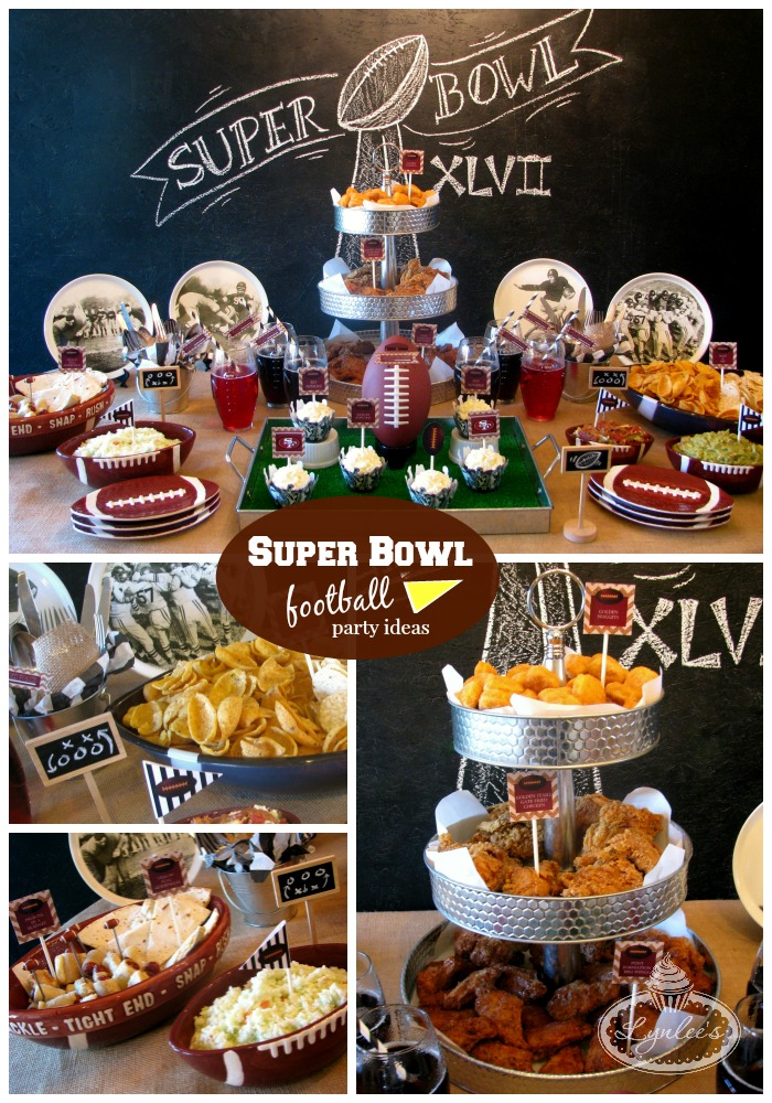 Superbowl Football party ideas ~ Lynlee's