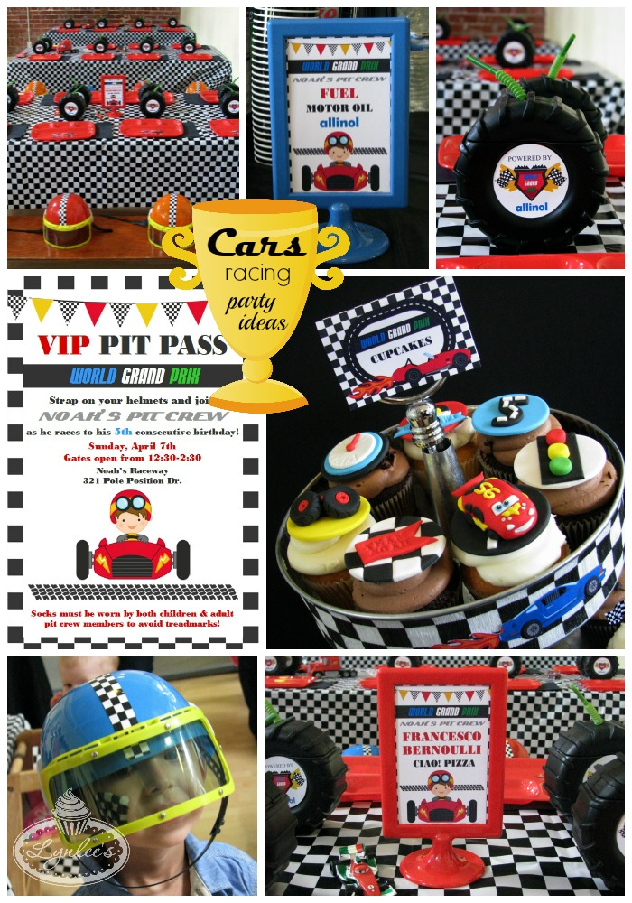 Cars World Grand Prix Racing party ideas ~ Lynlee's