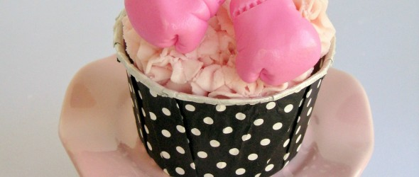 Fight Like a Girl: Breast Cancer Awareness Cupcake Tutorial