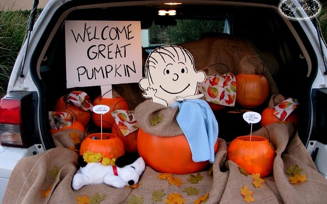 It's the Great Pumpkin Trunk, Charlie Brown!