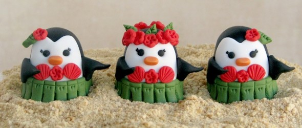 Happy Huladays! Fondant Penguin Tutorial