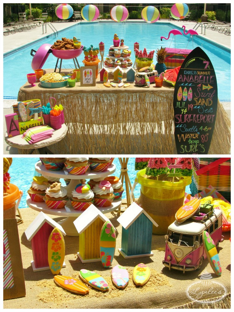 Endless Summer surf party beach huts ~ Lynlee's