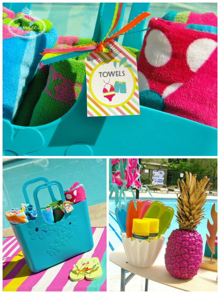Endless Summer surf party towels ~ Lynlee's