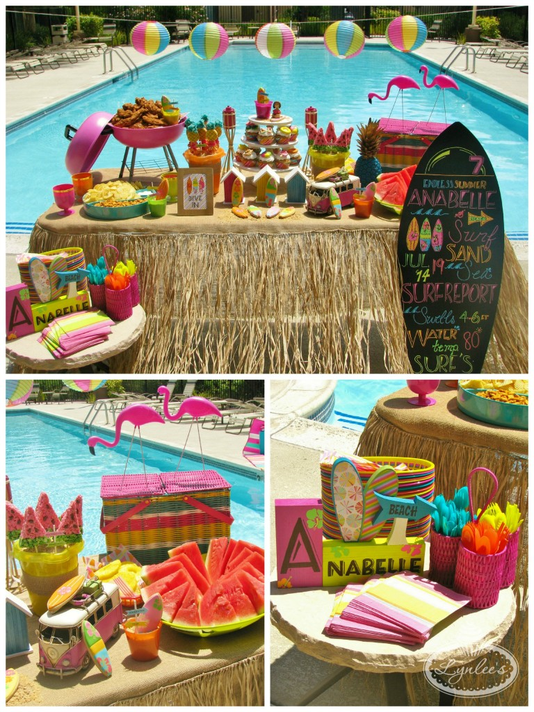 Endless Summer surf party table ~ Lynlee's