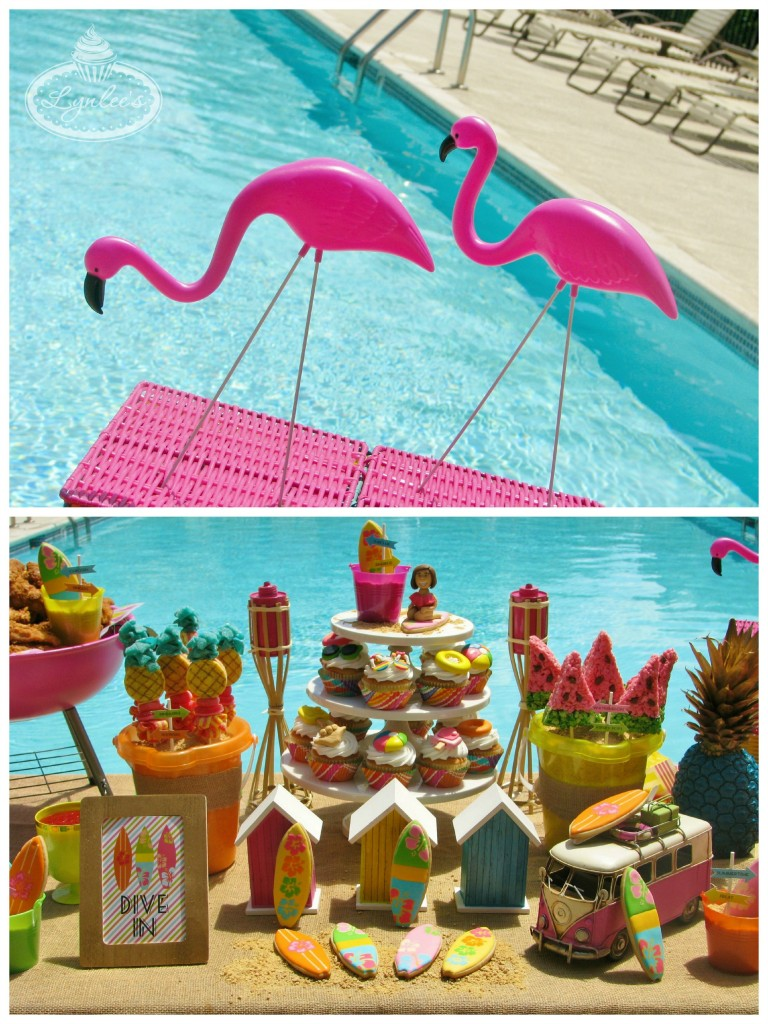 Endless Summer surf party flamingos ~ Lynlee's