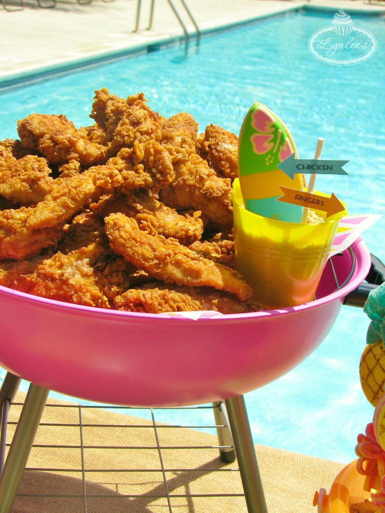 Endless Summer surf party chicken fingers ~ Lynlee's