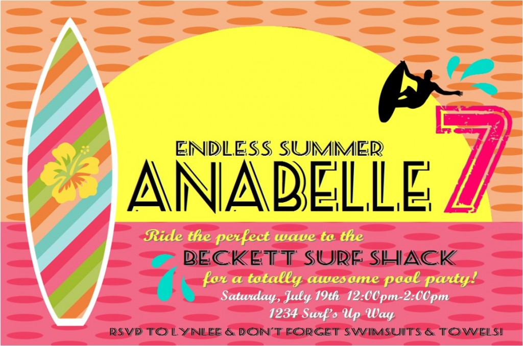 Endless Summer Surf Party ~ Lynlee\'s