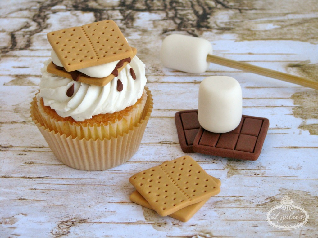 S'mores Fondant Cupcake Toppers ~ Lynlee's