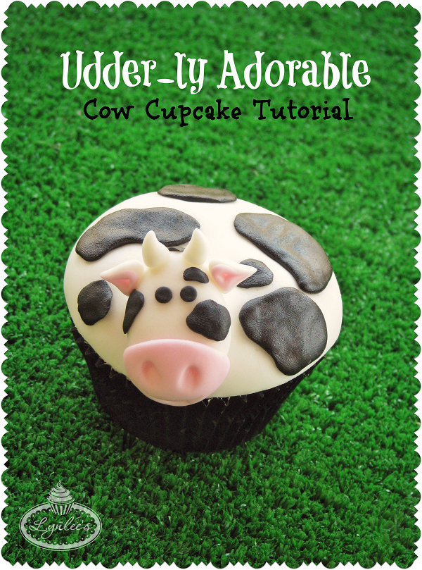 Udder-ly Adorable fondant cow tutorial ~ Lynlee's