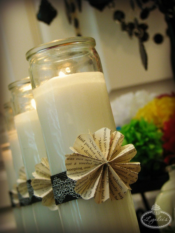 Book of Life candle decor ~ Lynlee's
