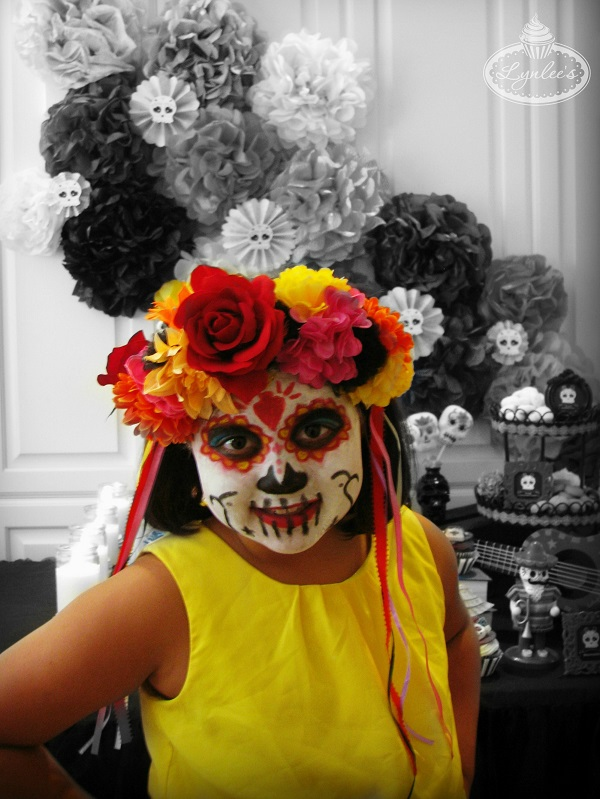 Day of the Dead make-up ~ Lynlee's