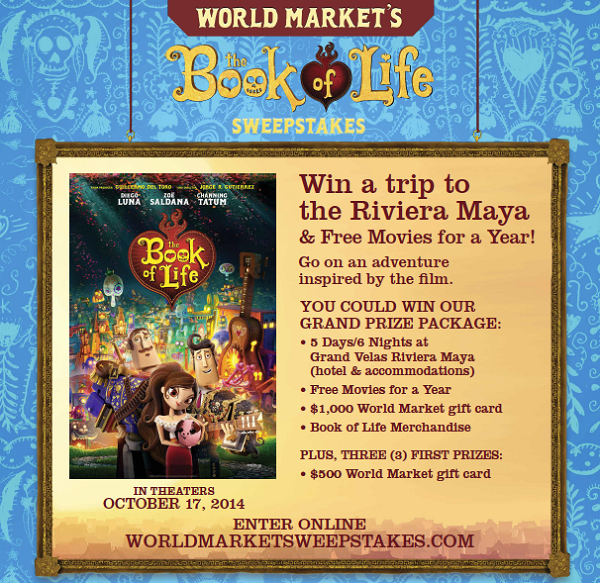 Book of Life World Market sweepstakes ~ Lynlee's