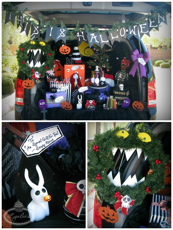 nightmare before christmas trunk or treat ideas