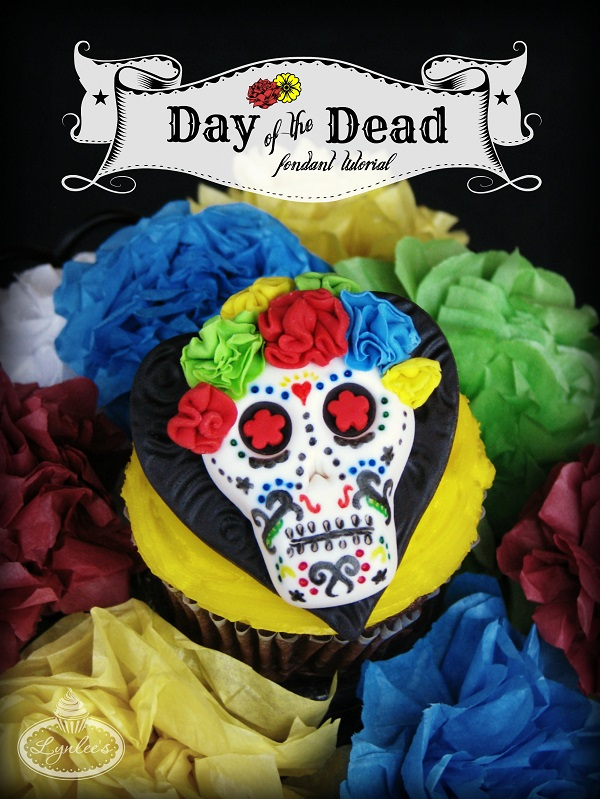 Dead of the Dead fondant cupcake tutorial ~ Lynlee's