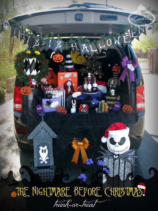 the nightmare before christmas halloween trunk or treat ideas lynlees