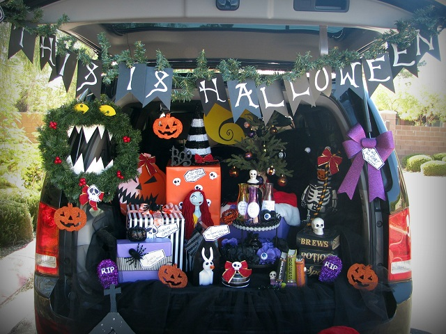 nightmare before christmas halloween trunk or treat