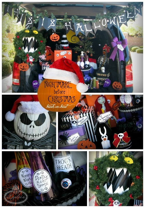 The Nightmare Before Christmas Halloween trunk-or-treat ideas & inspiration ~ Lynlee's