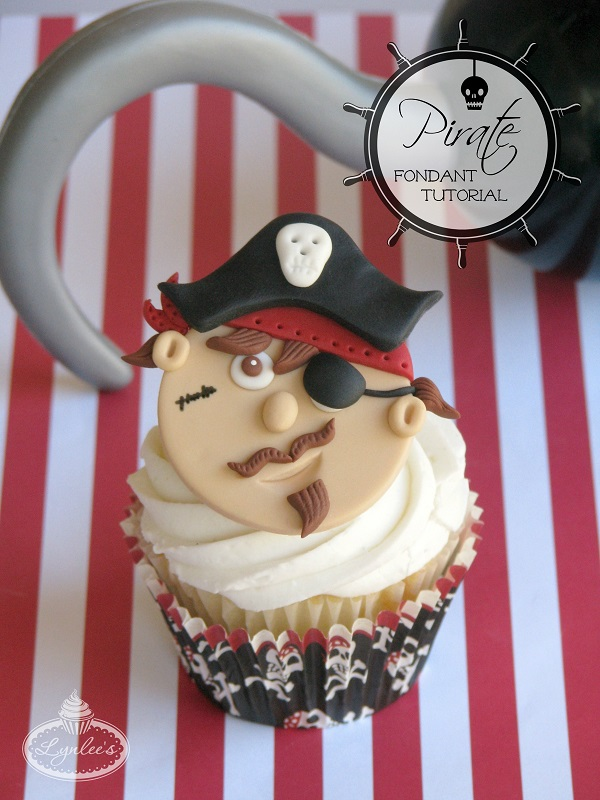 Pirate fondant topper tutorial ~ Lynlee's