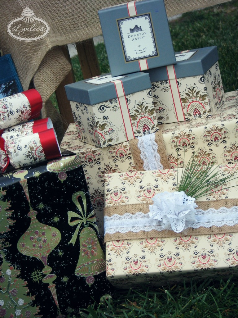 Downton Abbey tea cups, favors and wrapping paper ~ Lynlee's