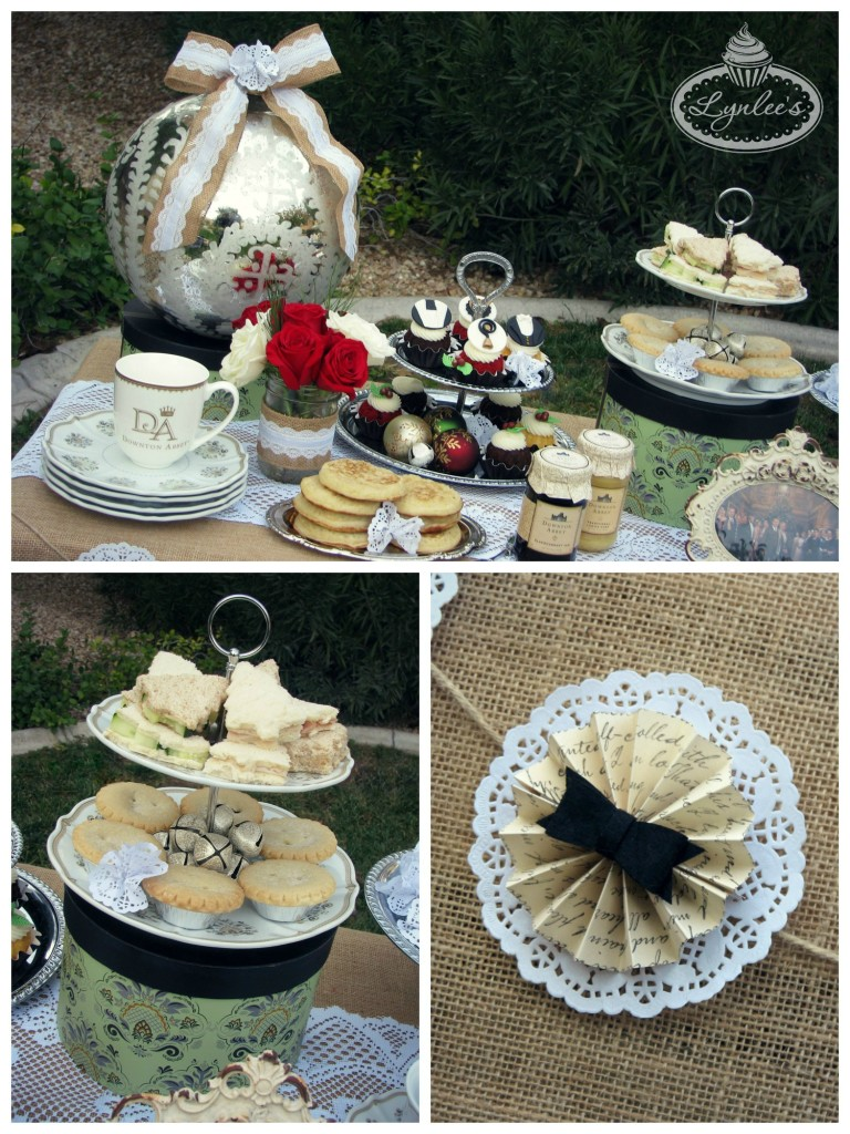 Downton Abbey sandwiches and decor ~ Lynlee's