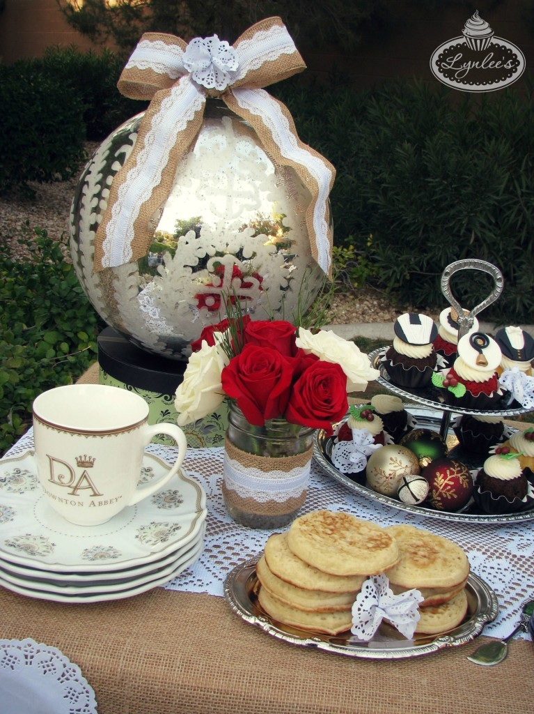 Downton Abbey Christmas tea table decorations ~ Lynlee's