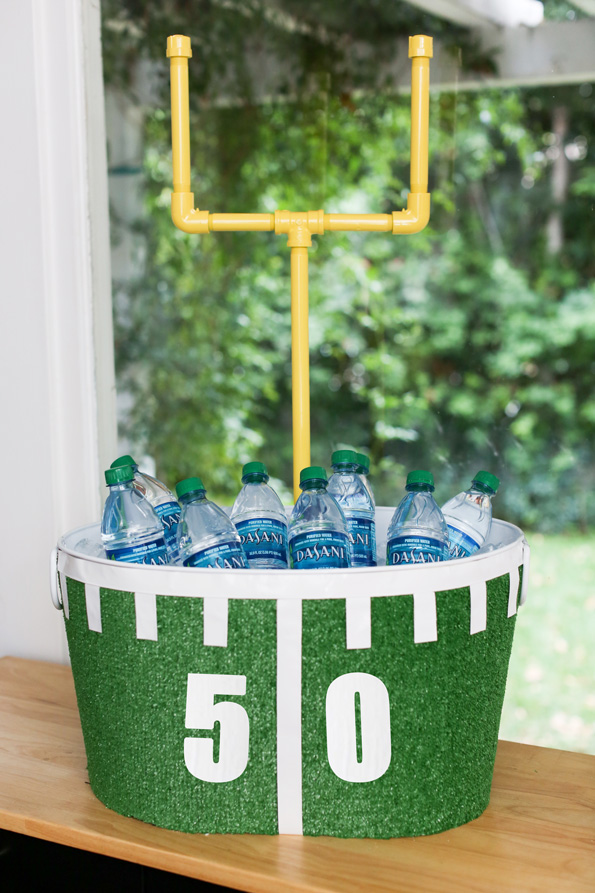 DIY Football Beverage Tub