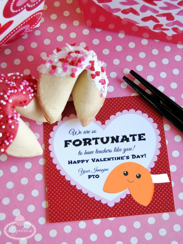 Fortunate Valentines fortune cookies