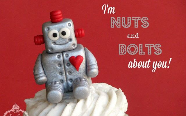 I'm Nuts and Bolts About You! Love Machine Fondant Tutorial