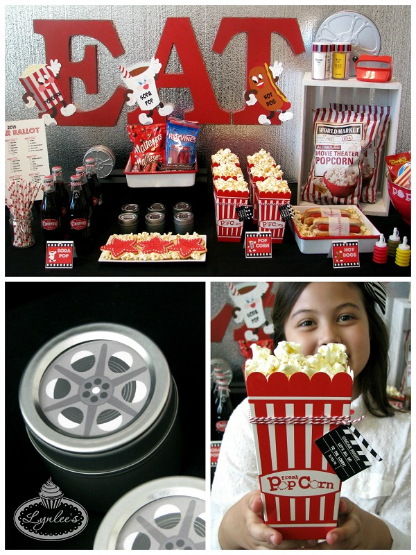 Retro Movie Night Concession Stand Decor ~ Lynlee's