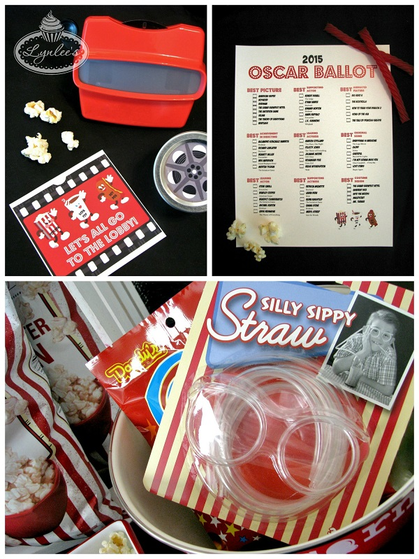 Retro Movie Night Oscar Activities ~ Lynlee's