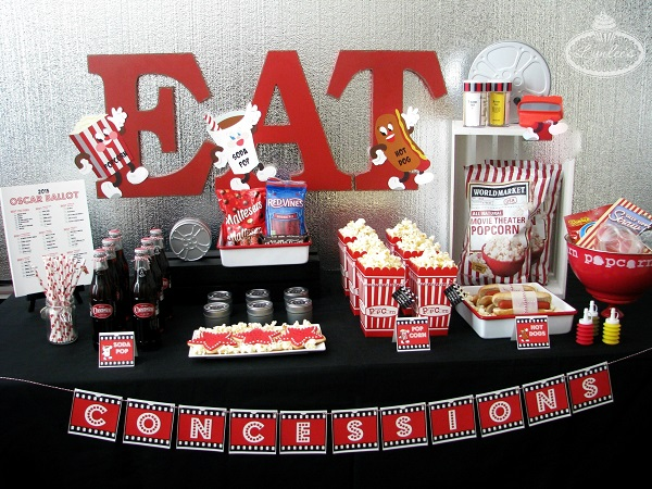 Retro Movie Night Concession Stand Ideas ~ Lynlee's