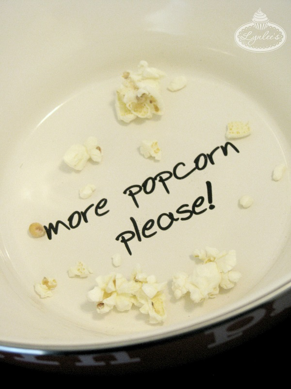 Retro Movie Night Popcorn Bowl ~ Lynlee's