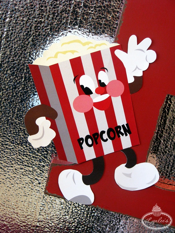 Retro Movie Night Dancing Popcorn Decor ~ Lynlee's