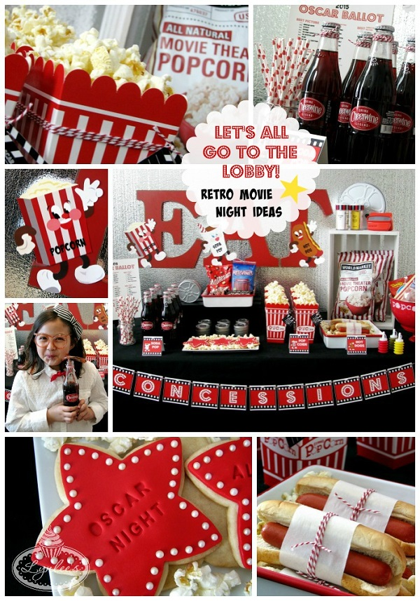 Retro Movie Night/Oscar Party Concession Stand Ideas ~ Lynlee's