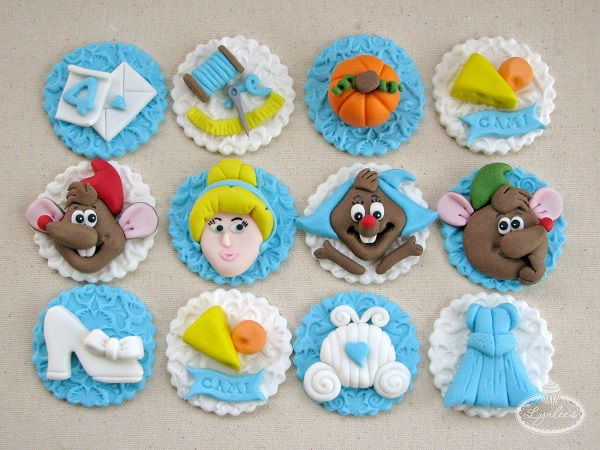 Cinderella fondant toppers ~ Lynlee's