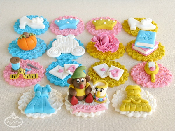 Princess fondant cupcake toppers ~ Lynlee's
