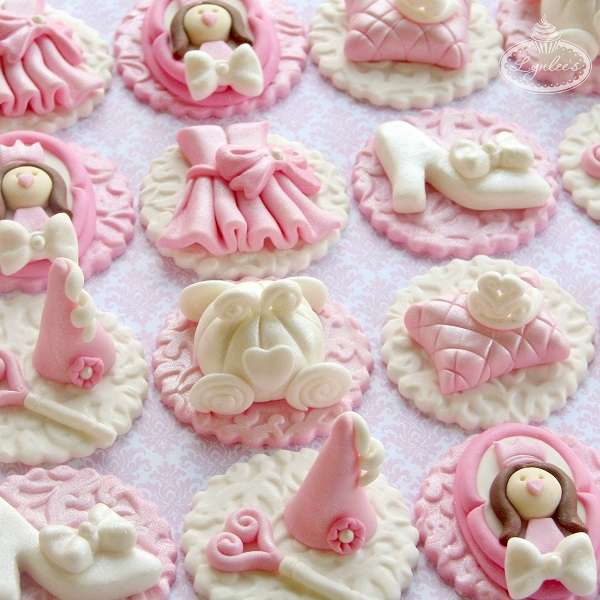 Princess Fondant Cupcake Toppers Lynlees