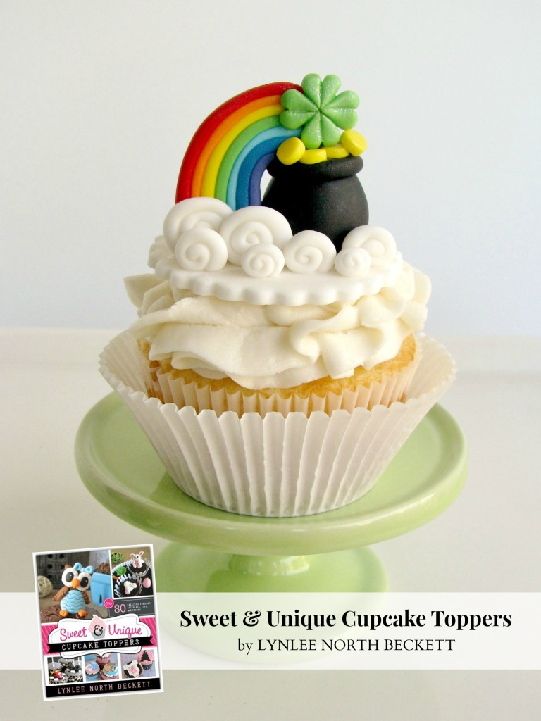 Somewhere Over the Rainbow St. Patrick's Day fondant tutorial from Sweet & Unique Cupcake Toppers