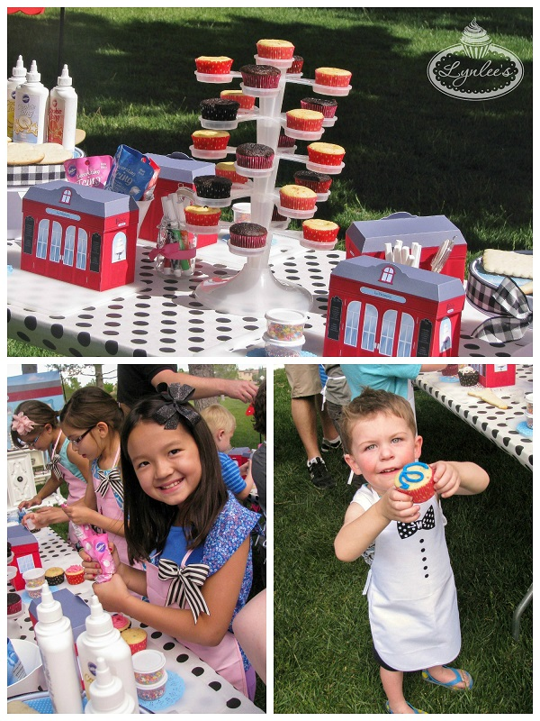 An American Girl in Paris cupcake decorating ~ Lynlee's