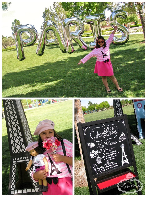 An American Girl in Paris party decor ~ Lynlee's