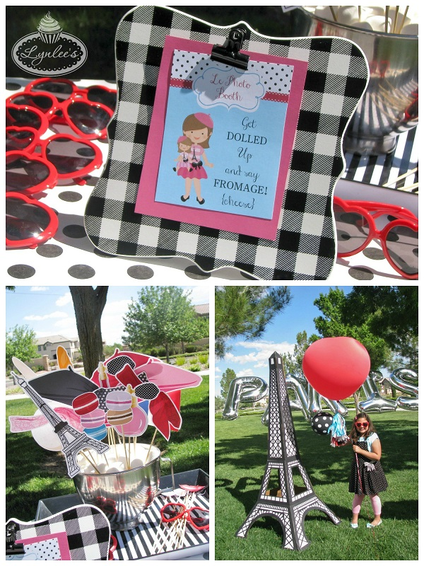 An American Girl in Paris photo booth ~ Lynlee's
