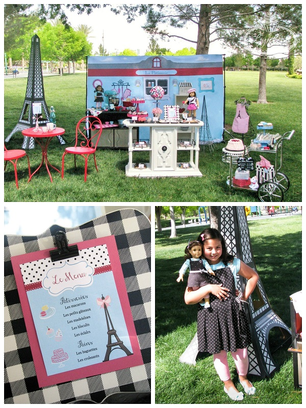 An American Girl in Paris party set-up ~ Lynlee's