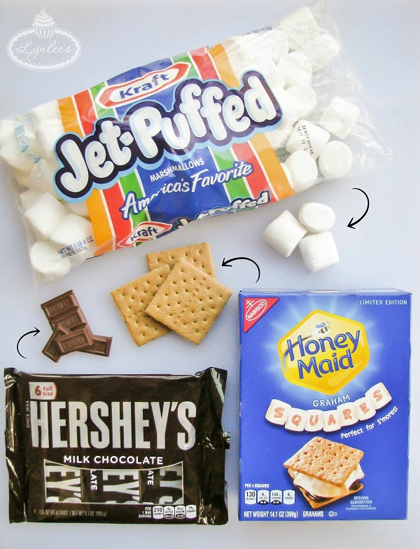 S'mores Pops tutorial ingredients breakdown