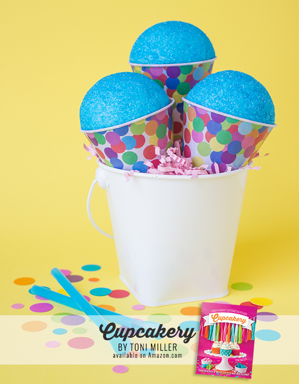Blue Raspberry Snow Cone Cupcakes from Cupcakery Book