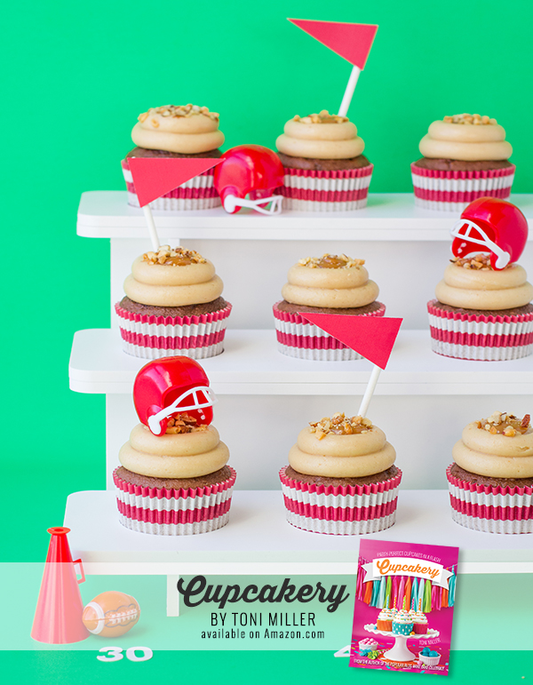 Football Cupcakes from Cupcakery Book