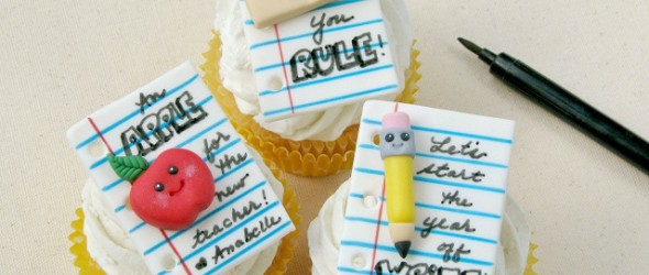 Noteworthy Back to School Cupcakes